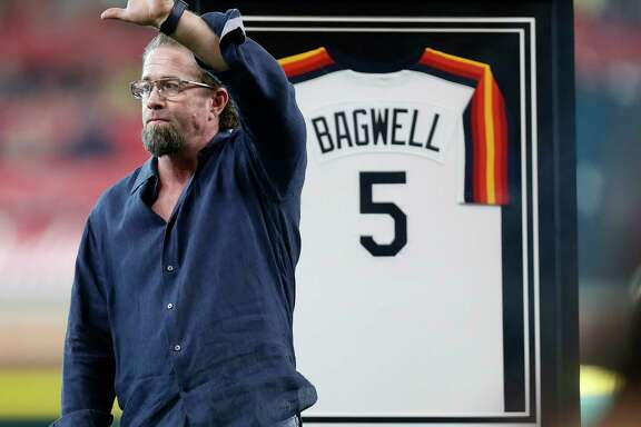 Newly minted Hall of Famer Jeff Bagwell said Saturday at Minute Maid Park he was happy to share the honor with Houstonians.