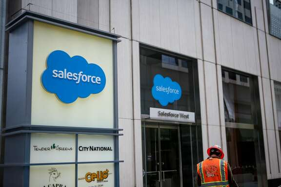 The Salesforce office in San Francisco on Saturday, August 5, 2017. The Salesforce offices will adopt a 100% clean power from San Francisco's CleanPowerSF initiative for its two offices downtown.