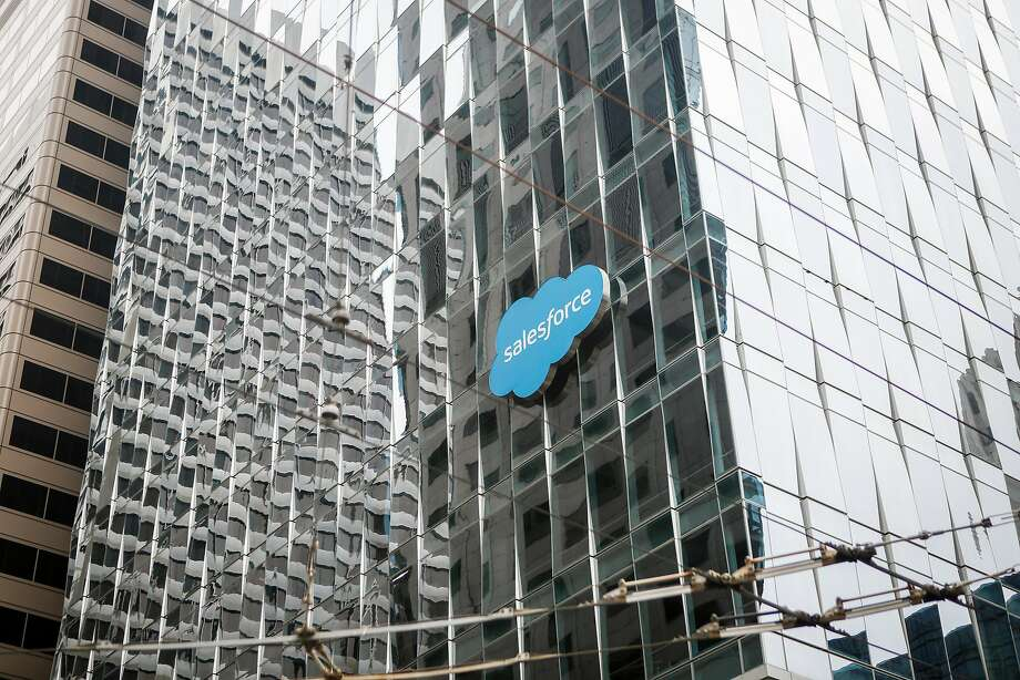 Salesforce said last year that it is getting 100 percent renewable energy through the CleanPowerSF program for two of its office towers in San Francisco, Salesforce East and Salesforce West. Photo: Nicole Boliaux / The Chronicle