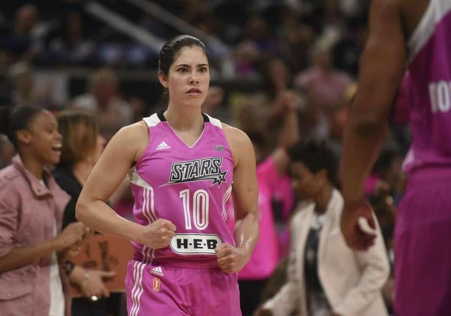 Guard Kelsey Plum will play in Las Vegas next season after the San Antonio Stars were sold. Photo: Billy Calzada /San Antonio Express-News / San Antonio Express-News