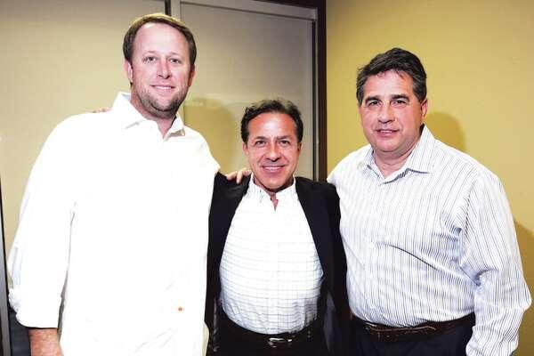 Brandon Wetsel, Ramon Diez Barroso and John Villarreal at Legend Title & Abstract annual Mexican Fiesta.