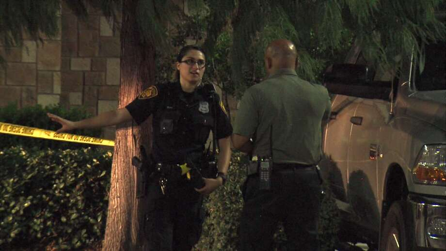 San Antonio police say a victim in an overnight shooting is not cooperating with the investigation. He was taken to University Hospital in unknown condition after walking into a Sleep Inn & Suites with multiple gunshot wounds Saturday night Aug. 5, 2017. Photo: Pro 21 Video