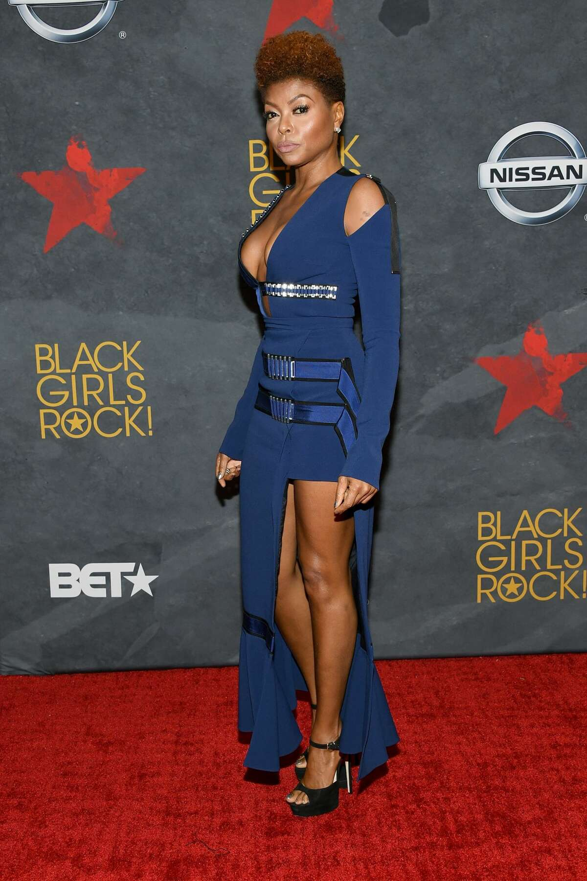 Best: Taraji P. Henson Straps and unexpected angles keeps us interested in this look.