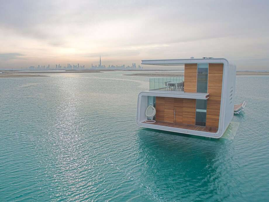 "The Heart of Europe rolled out its first $2.8 million floating home, the aptly named ""Floating Seahorse,"" in early 2016. Since then, development firm Kleindienst has been rolling out even larger homes that will cost roughly $3.3 million. Photo: Kleindienst Group"