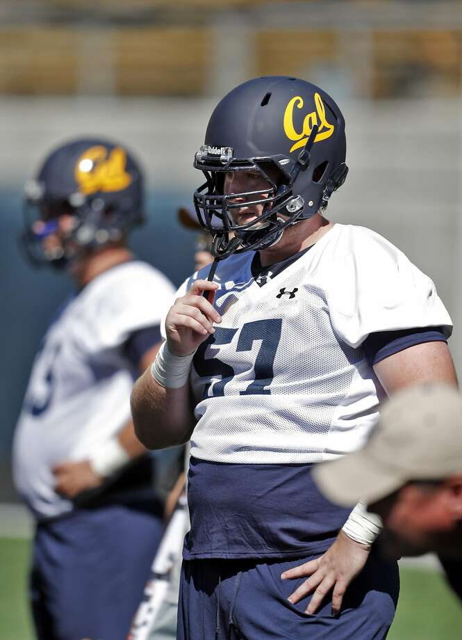 Cal Bears Addison Ooms (57) watches the offense work out during Cal football practice at Memorial Stadium in Berkeley, Calif., on Monday, July 31, 2017. Photo: Carlos Avila Gonzalez, The Chronicle