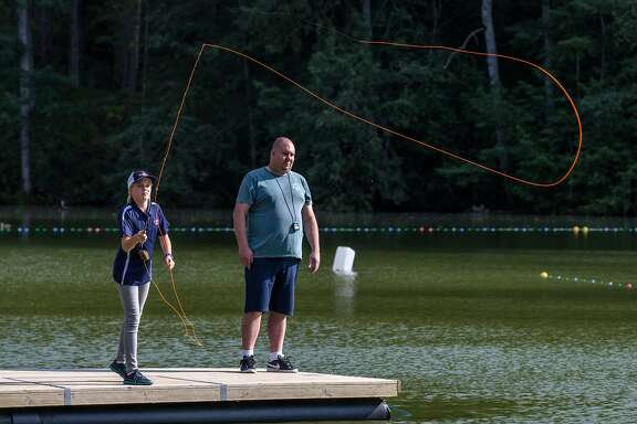 Maxine McCormick, 13, beat her coach at the National Casting Championships.