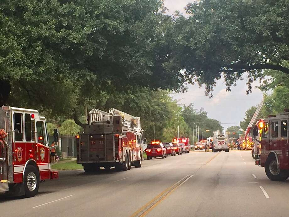 Emergency vehicles responded to a fire at the Chinese consulate on Sunday afternoon.