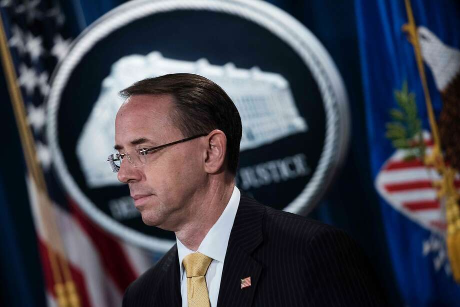 Deputy Attorney General Rod Rosenstein declined to comment on reports that a grand jury is being used to help the probe. Photo: BRENDAN SMIALOWSKI, AFP/Getty Images