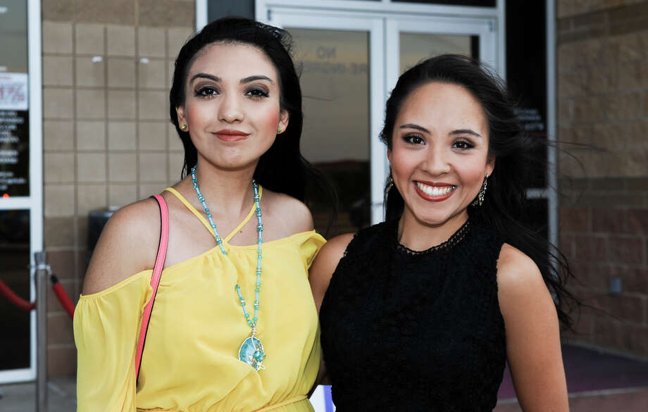 Daniela Rodriguez and Karen Espinoza at the Laredo Energy Arena for the Cristian Castro concert. Photo: Danny Zaragoza