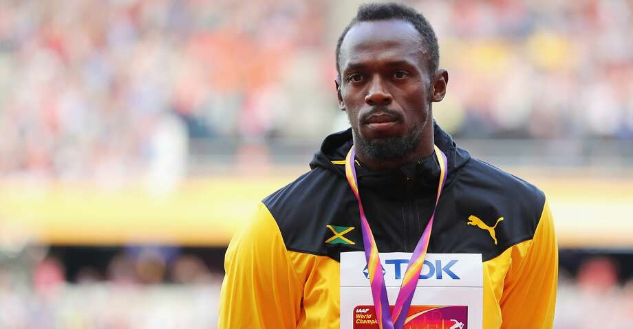 LONDON, ENGLAND - AUGUST 06:  Usain Bolt of Jamaica receives the bronze medal for the Men's 100 metres during day three of the 16th IAAF World Athletics Championships London 2017 at The London Stadium on August 6, 2017 in London, United Kingdom.  (Photo by Richard Heathcote/Getty Images) Photo: Richard Heathcote/Getty Images