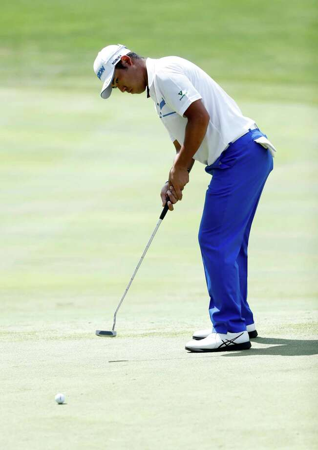 AKRON, OH - AUGUST 06:  Hideki Matsuyama of Japan prepares to putt on the fifth green during the final round of the World Golf Championships - Bridgestone Invitational at Firestone Country Club South Course on August 6, 2017 in Akron, Ohio.  (Photo by Sam Greenwood/Getty Images) ORG XMIT: 686978889 Photo: Sam Greenwood / 2017 Getty Images