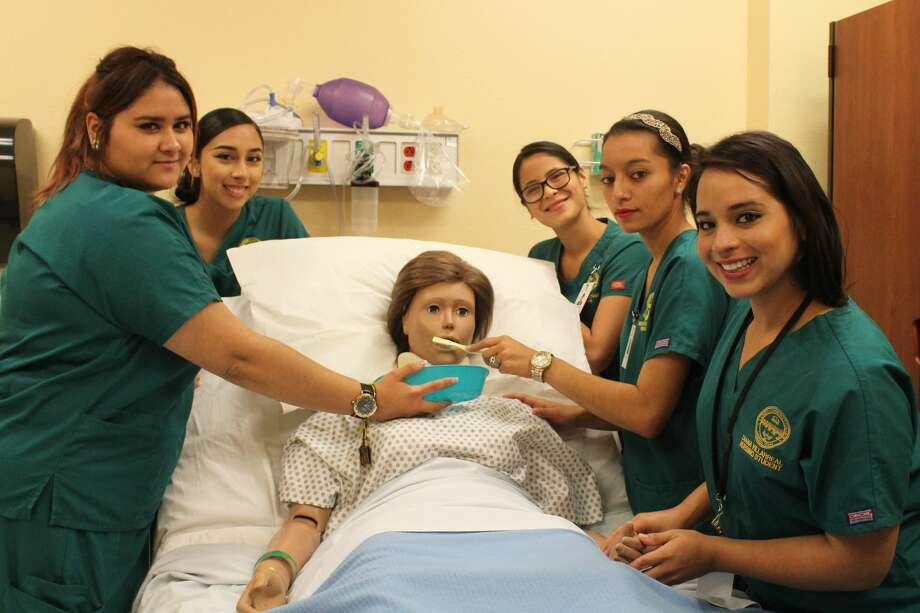 : Laredo Community College Nursing Assistant students run through various scenarios on one of the program's manikins. The Nursing Assistant certificate program is one of several nursing programs available at LCC. Photo: Courtesy