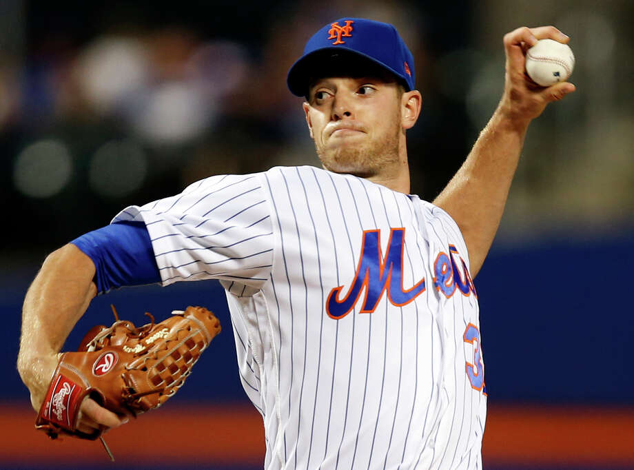 New York Mets starting pitcher Steven Matz delivers during the first inning of a baseball game against the Los Angeles Dodgers, Sunday, Aug. 6, 2017, in New York. (AP Photo/Kathy Willens) ORG XMIT: NYM101 Photo: Kathy Willens / Associated Press