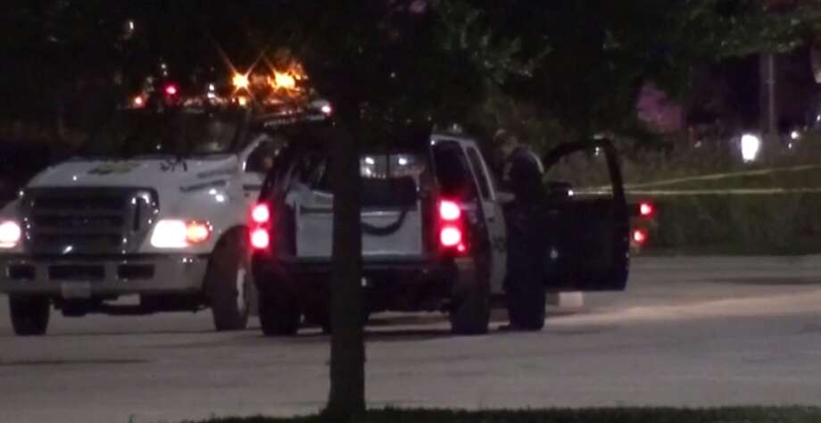 A man is injured after being shot in the face Sunday evening at the West Oaks Mall. (Metro Video) Photo: Metro Video