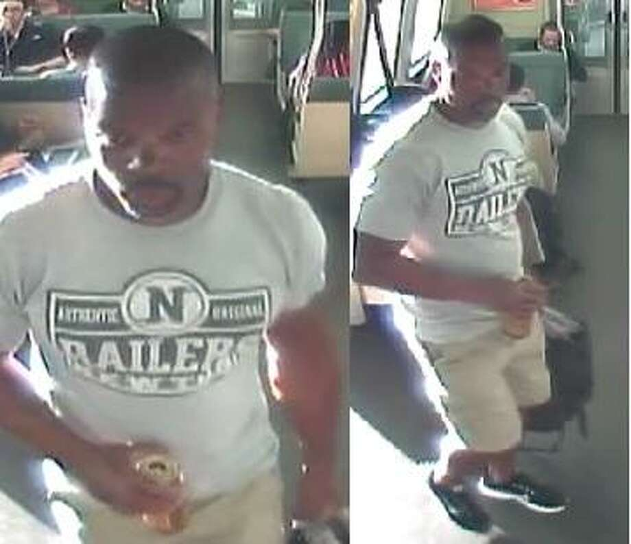 BART police arrested a man Monday they suspect is responsible for man two seemingly random attacks on trains last week. The arrest was made just hours after BART police released surveillance photos of the suspect. Photo: BART Police
