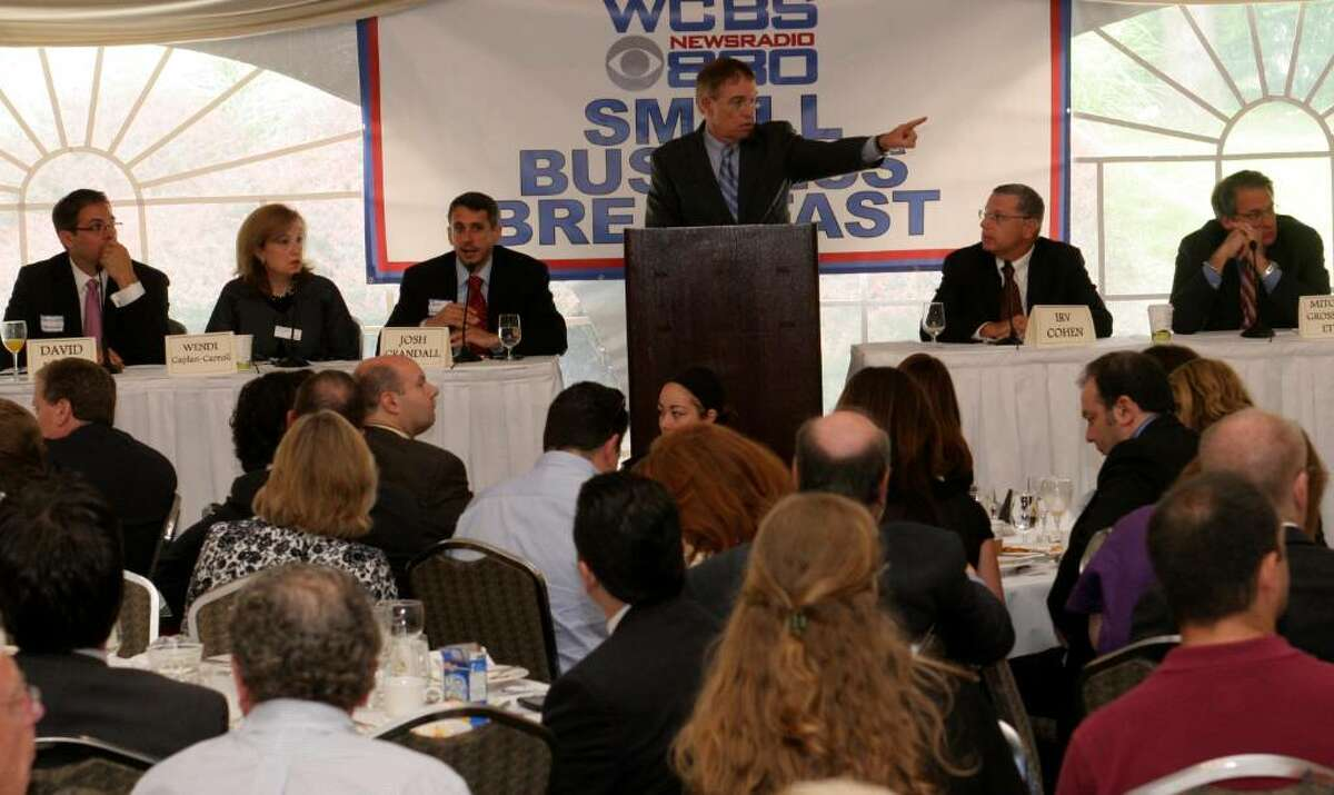 Joe Connolly, Business Reporter for The Wall Street Journal & WCBS 880, was the host of Wednesday morning's Small Business Breakfast held at the Hilton Stamford.