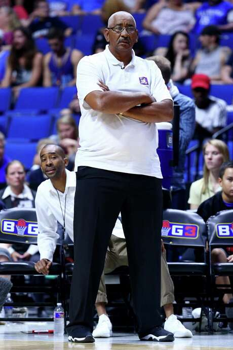 Coach George Gervin of the Ghost Ballers looks on during the game against the Ball Hogs during week three of the Big3 basketball league at BOK Center on July 9, 2017 in Tulsa, Okla. Photo: Ronald Martinez /Getty Images / 2017 Getty Images