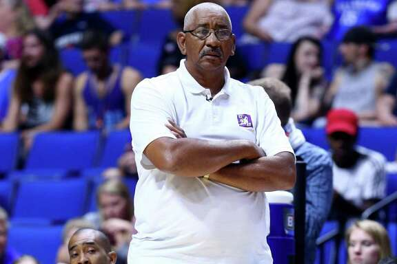 Coach George Gervin of the Ghost Ballers looks on during the game against the Ball Hogs during week three of the Big3 basketball league at BOK Center on July 9, 2017 in Tulsa, Okla.