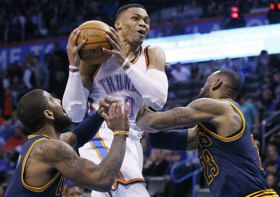 Oklahoma City's  Russell Westbrook could relocate in 2018. Photo: Sue Ogrocki /Associated Press / AP2017