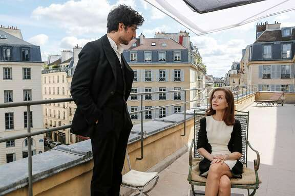 "Louis Garrel and Isabelle Huppert in ""False Confessions."""