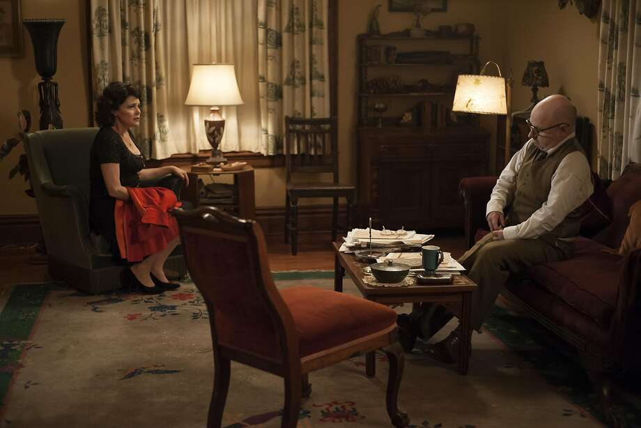 """Sherilyn Fenn and Clark Middleton in a still from Part 13 of """"Twin Peaks: The Return."""" Photo: Suzanne Tenner/SHOWTIME"""