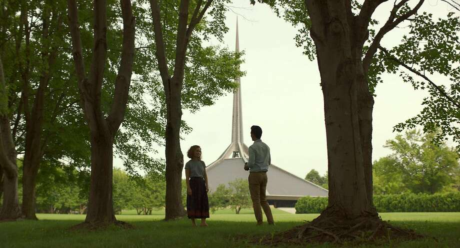 In a small Indiana town, Casey (Haley Lu Richardson) and Jin (John Cho) talk about architecture � and much more � in the romantic dramedy �Columbus.� Photo: Superlative Films