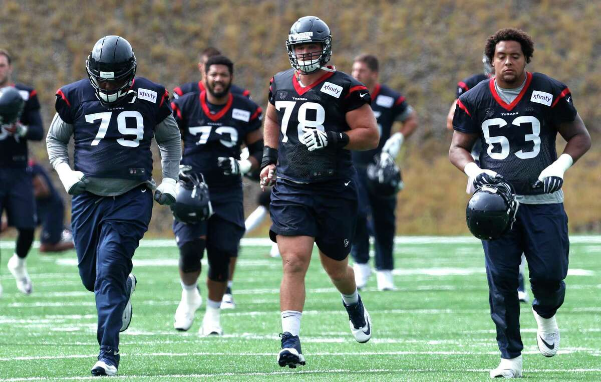 Texans guard Jeff Allen (79) is expected to start Sunday in place of Greg Mancz, who has a knee injury.