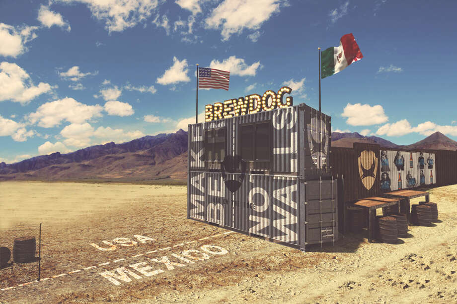 A rendering of a planned BrewDog craft beer bar on the U.S.-Mexico border. The Scottish brewer announced plans for the bar on Aug. 3, 2017. Photo: File/BrewDog