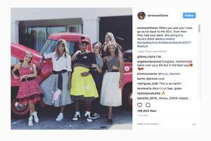 Serena Williams hosted a 1950s-inspired baby shower with Eva Longoria, Ciara, Lala Anthony, Angie Beyince and Kelly Rowland.