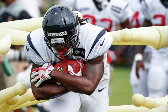 Wednesday's preseason opener at Carolina gives Texans rookie D'Onta Foreman a chance to begin to emerge from a crowded backfield situation.