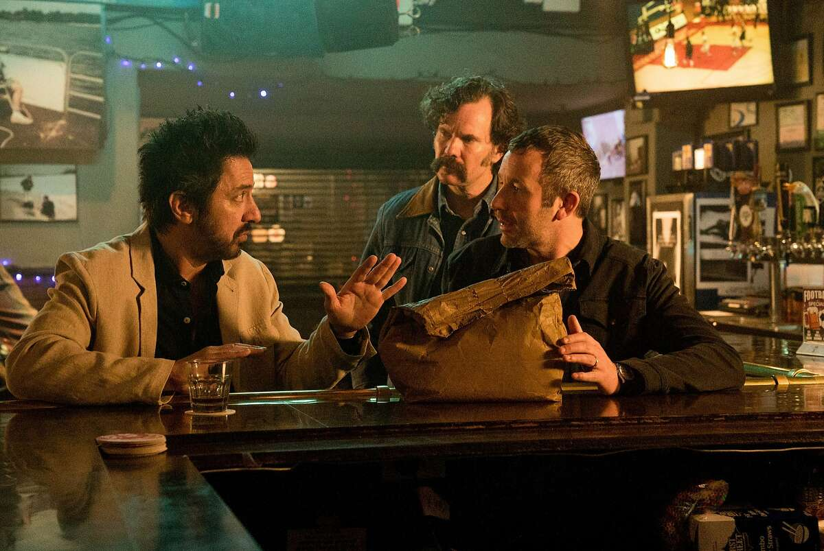 Ray Romano, left, Sean Bridgers, center, and Chris O'Dowd in the new Epix adaptation of