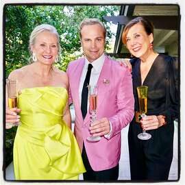 Winemaker Beth Nickel (left) with vintners Jean-Charles Boisset and Gina Gallo at the Rubin Singer fashion event. Aug. 2, 2017.