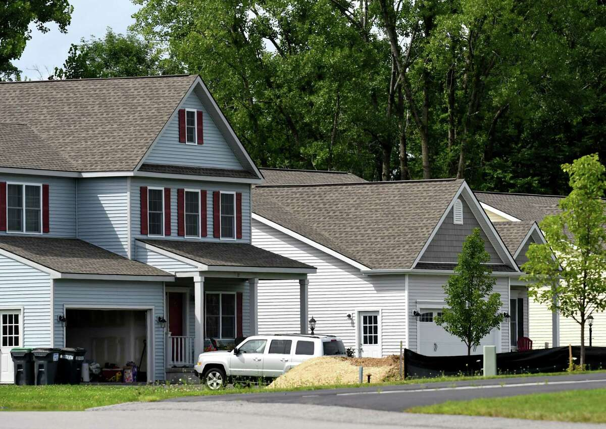 Houses at the Saratoga Pointe, a new development on Route 423 near Saratoga Lake on Friday, July 28, 2017, in Stillwater, N.Y. (Will Waldron/Times Union)