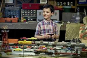 """Like Jim Parson's older version in """"The Big Bang Theory,"""" the young Sheldon (Iaian Armitage) has an affinity for trains in the Texas-set spinoff, bowing on CBS Sept. 25."""