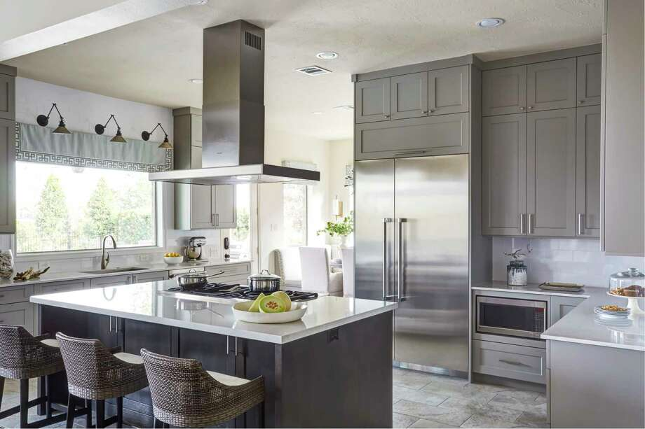 The kitchen remodel at the Katy home of Candie and Steven Tramonte. Photo: Michael Kaskel