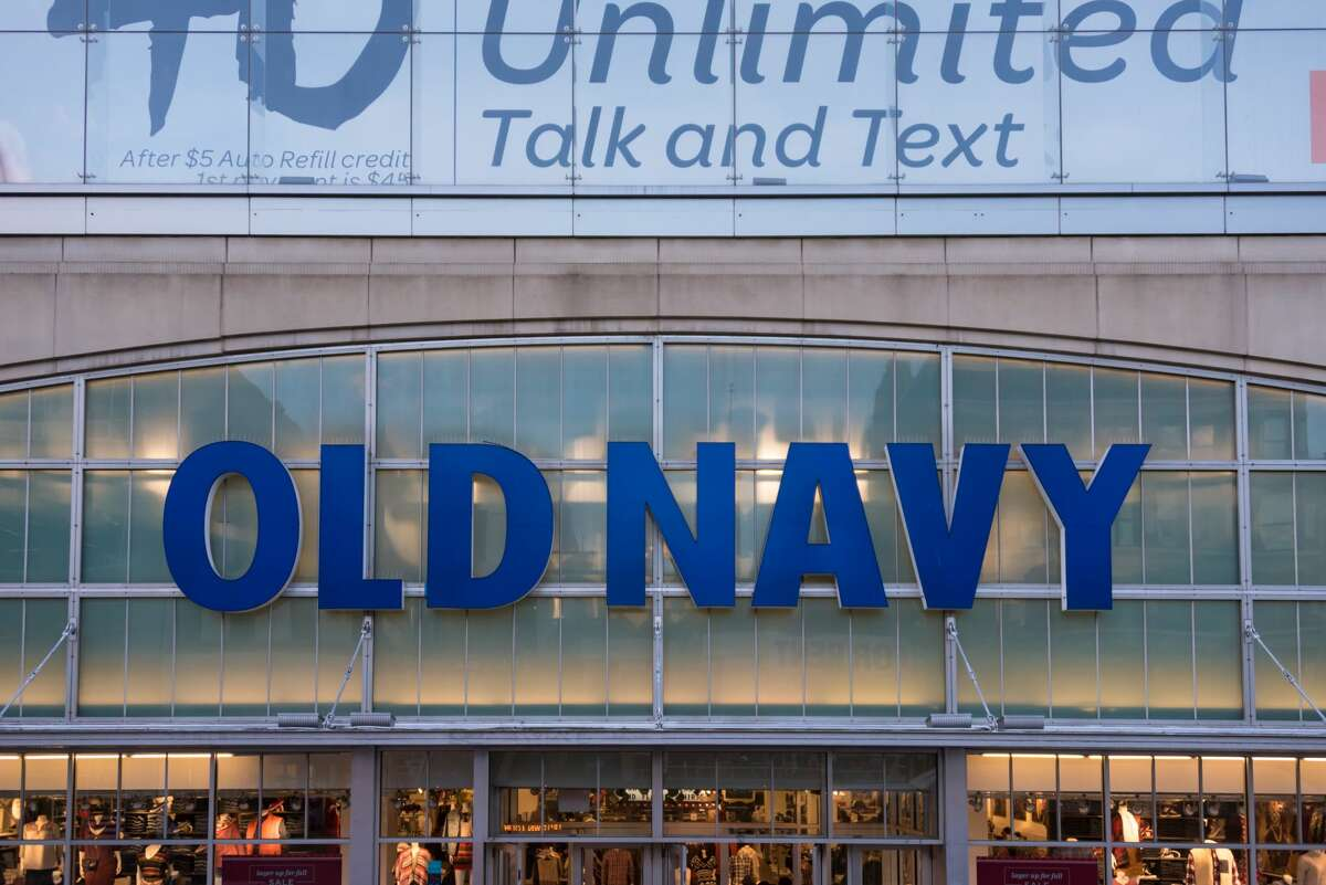 Old Navy sign or logo in the front of a store. Old Navy is a popular American clothing and accessories retailer owned by American multinational corporation Gap Inc. (Photo by Roberto Machado Noa/LightRocket via Getty Images)