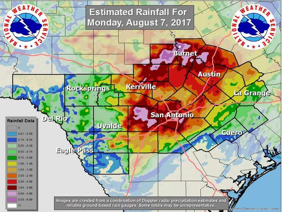 National Weather Service warns of possible flooding into Tuesday if additional rainfall of 1 to 2 inches occurs. Photo: Courtesy National Weather Service