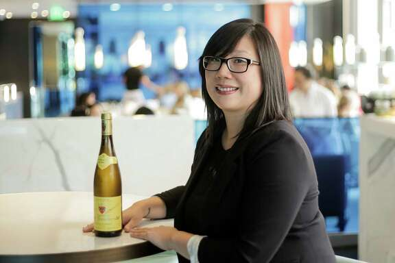 "Yauatcha sommelier Angie Chang, touts the 2015 Zind-Humbrecht Gewurztraminer for its ""silky texture on the palate."""