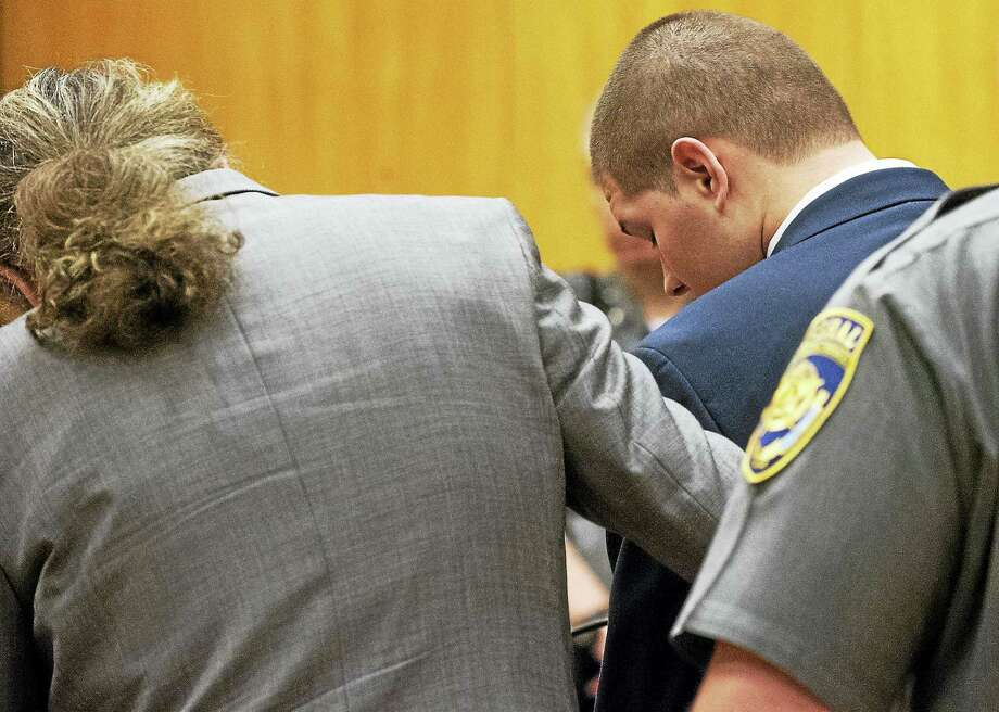 PATRICK RAYCRAFT/COURANT VIA AP POOL Tony Moreno is sentenced in Middlesex Superior Court on Wednesday. He received a total of 70 years behind bars. Photo: Digital First Media