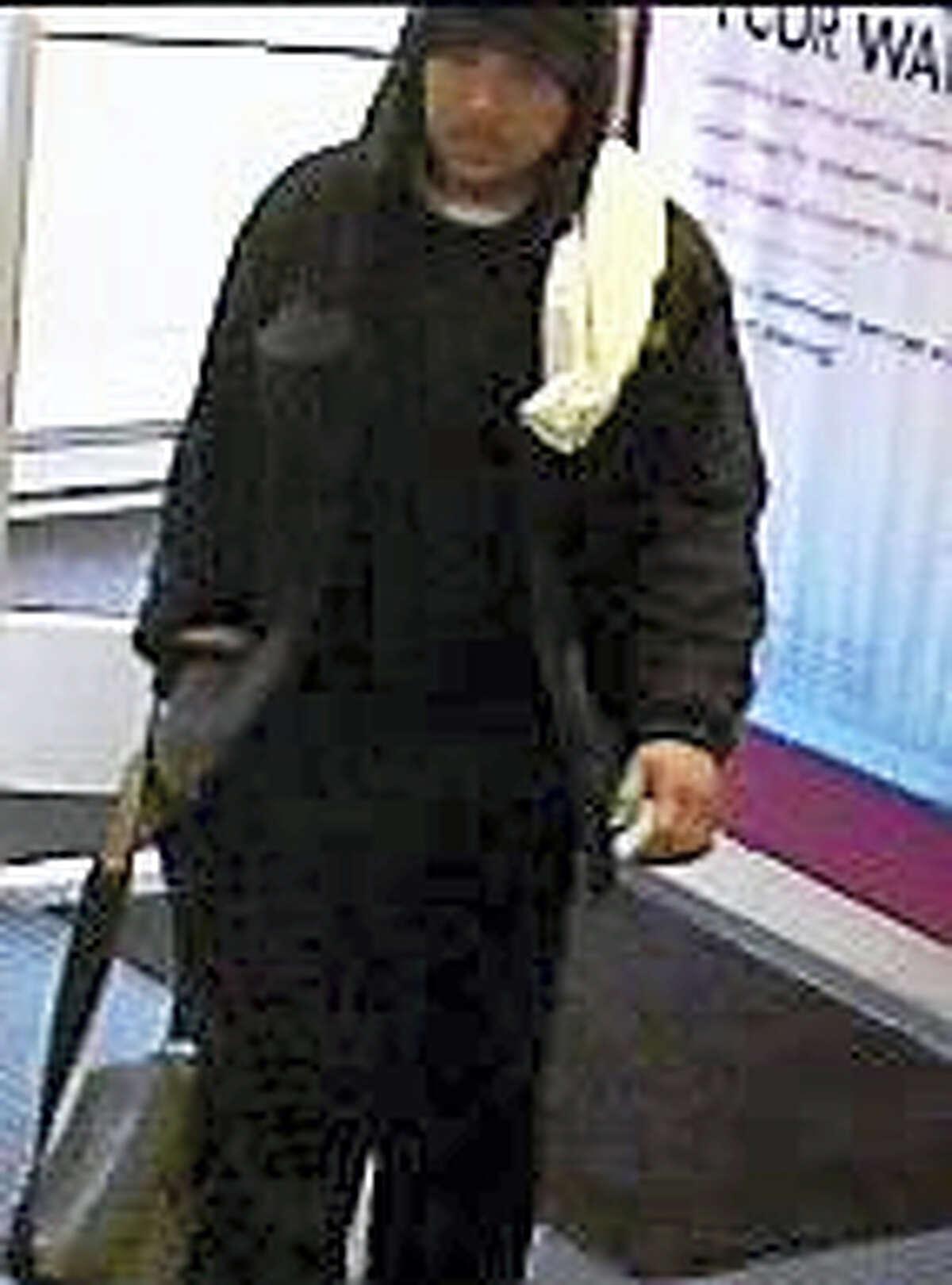 Haddam bank robbery suspect
