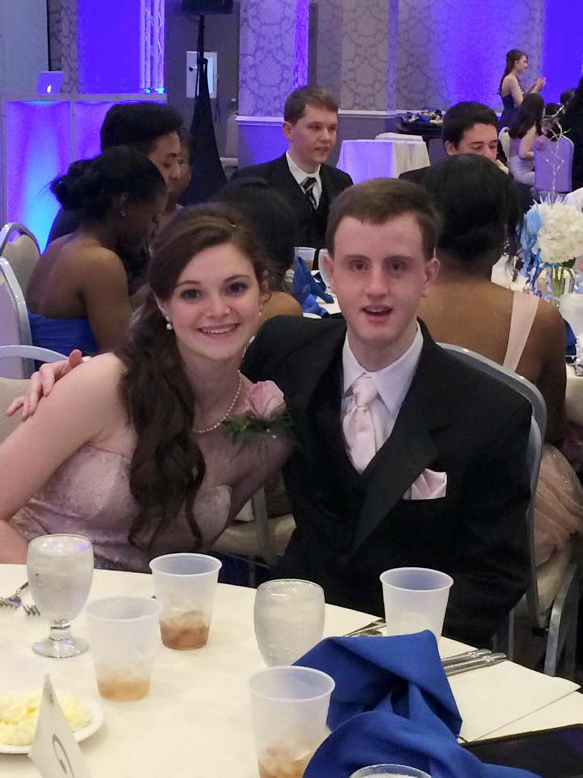 This March 28, 2015 photo provided by Kathty Lovetere shows Kaitlin McCarthy and Matty Marcone, students at Canton High School in Canton, Mass., at the schoolís junior prom. Kaitlin invited Matty, who has special needs, to be her date and they were crowned prom king and queen. Prom culture has changed so that some teens are now using the big night as a platform for social change and as an opportunity to be inclusive rather than exclusive. (Kathy Lovetere via AP)