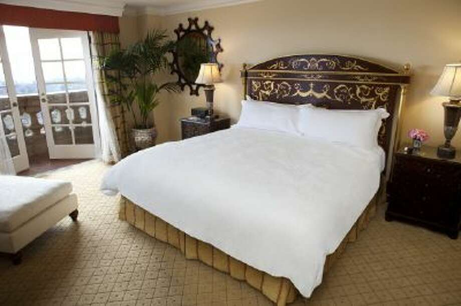 A suite in The Langham Huntington hotel.