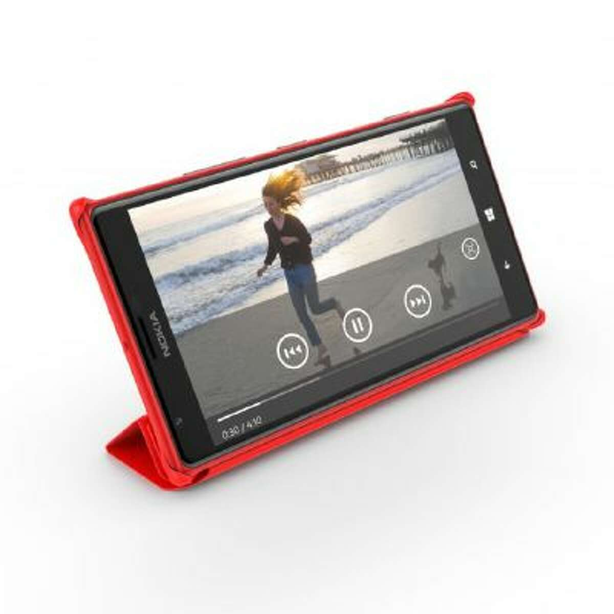 This undated product image provided by Nokia shows the the Nokia Lumia 1520. The 1520 is a Window 8 phone and among the first of its size, made possible by a mid-October software update from Microsoft.