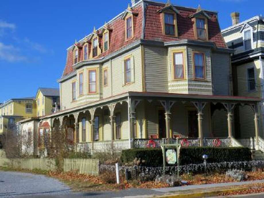 The exterior of Leith Hall, a bed-and-breakfast in Cape May, N.J., that's half a block from the beach.