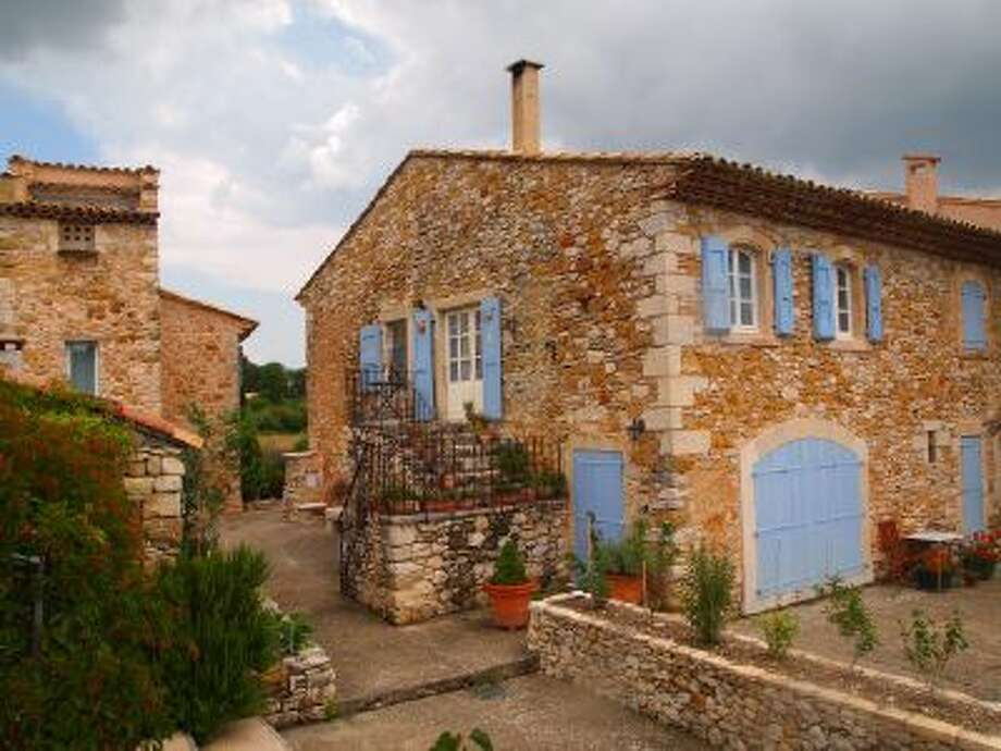 This 17th century building in the medieval town of Banon, France, now houses La Bastide des Muriers guesthouse.