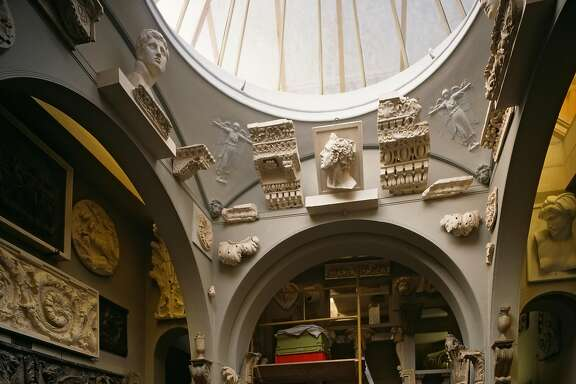 Sir John Soane Museum, London, United Kingdom, Architect Sir John Soane, Sir John Soane Museum Dome With Collection Of Busts, Cornices And Freize Details. (Photo by View Pictures/UIG via Getty Images)