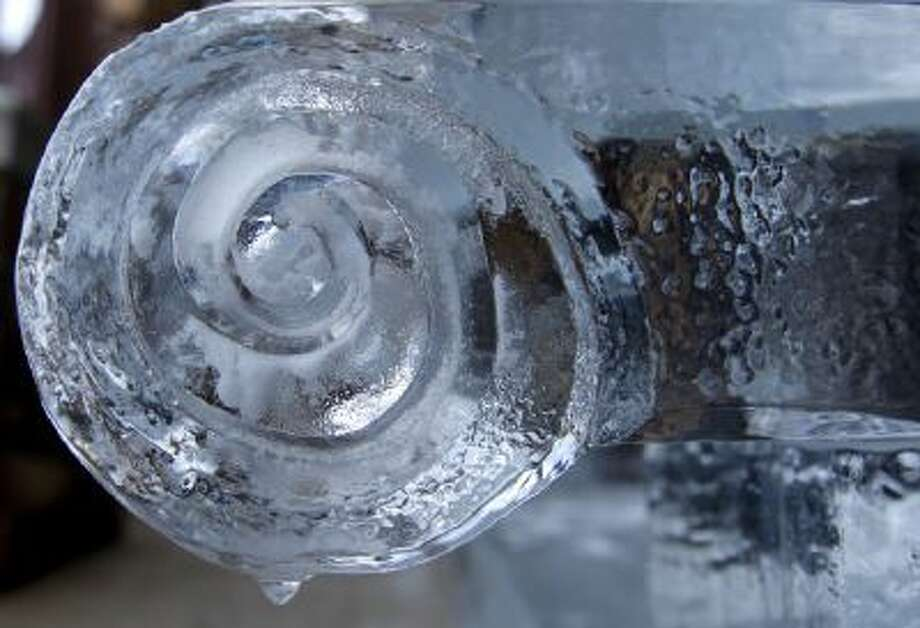 A detail of the the outdoor ice lounge seen on Dec. 18.