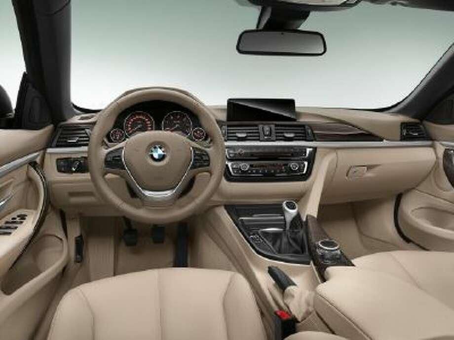 BMW 4 Series Convertible -- interior.