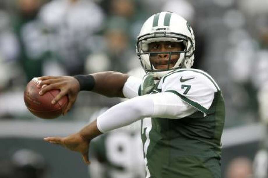 New York Jets rookie quarterback Geno Smith is tied with Eli Manning for the NFL lead in interceptions.