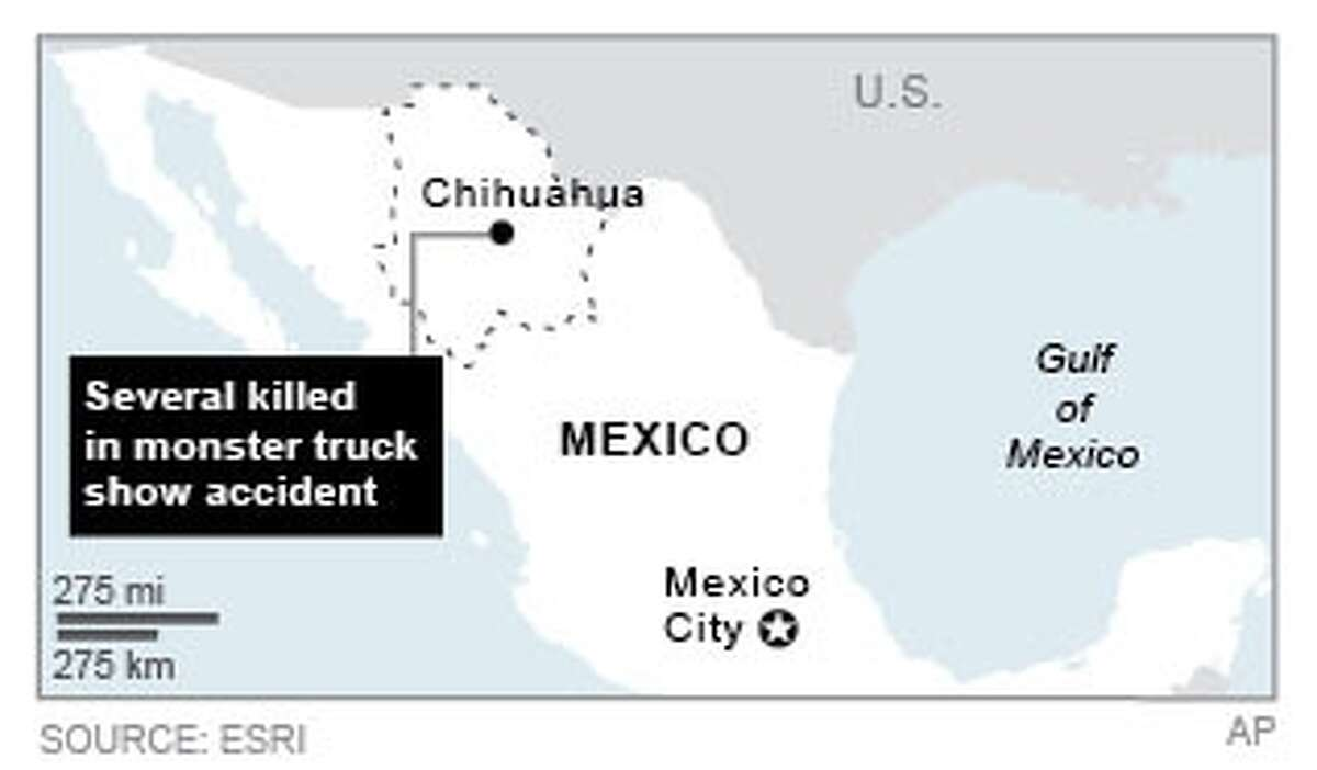 Graphic locates Chihuahua, where fatal accident took place; 2c x 2 inches; 96.3 mm x 50 mm;